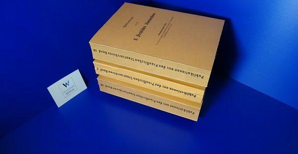 BAILLEU, P. - Preußen und Frankreich 1795-1807 – Diplomatische Correspondenzen. 1795-1807. 2 Teile