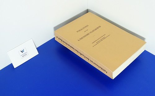 LOEWE, V. - Preussens Staatsverträge aus der Regierungszeit König Friedrich Wilhelms I.